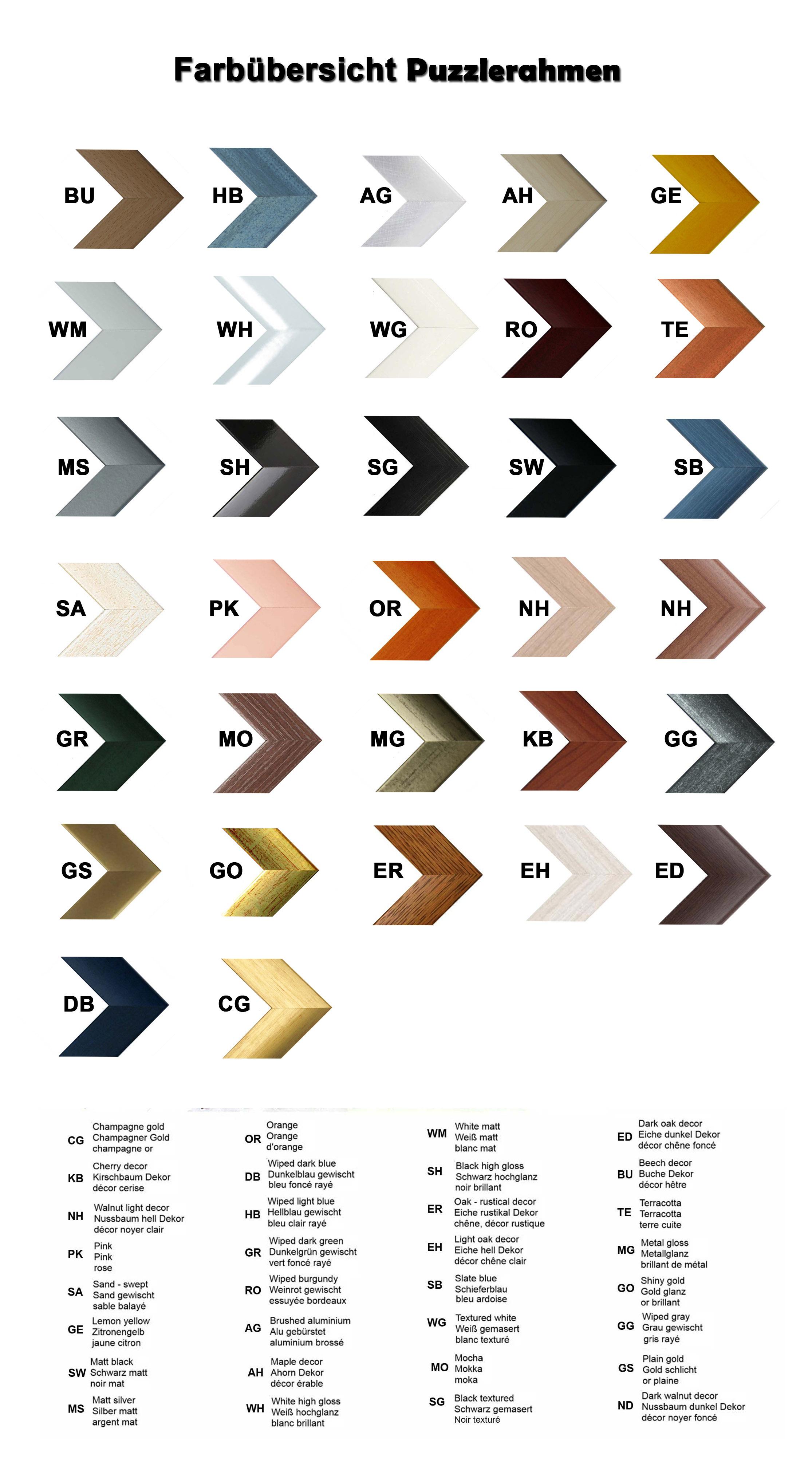 puzzlerahmen bilderrahmen farbwahl 98x75 5 cm genau. Black Bedroom Furniture Sets. Home Design Ideas