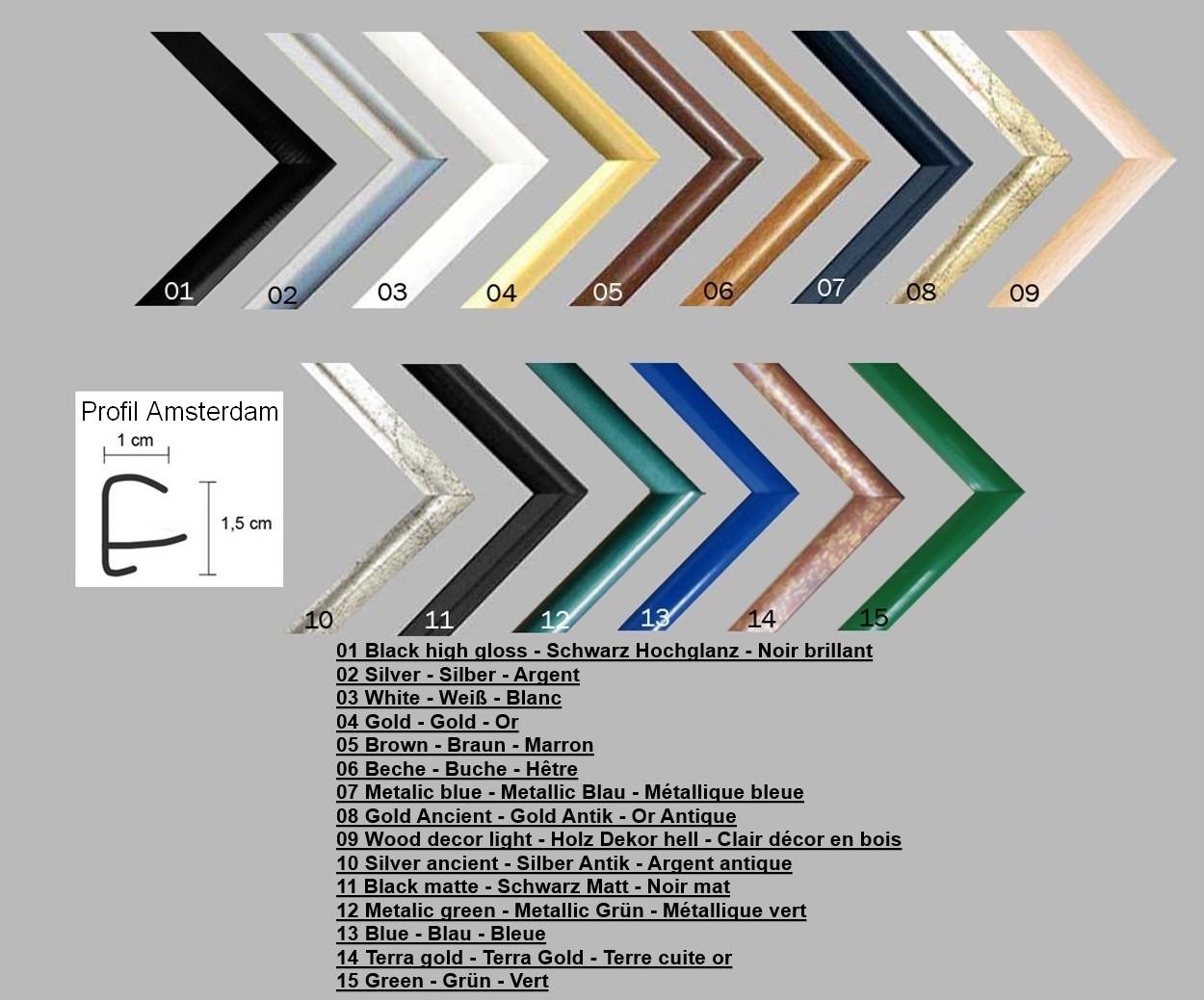 Bilderrahmen posterrahmen amsterdam kunststoff farbwahl for Home deco 24