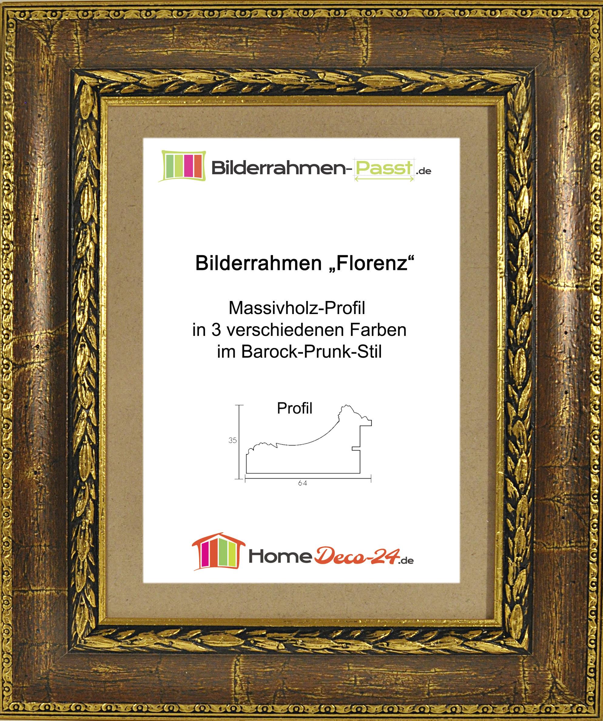 Massivholz bilderrahmen barock prunk 45x69 cm florenz for Home deco 24
