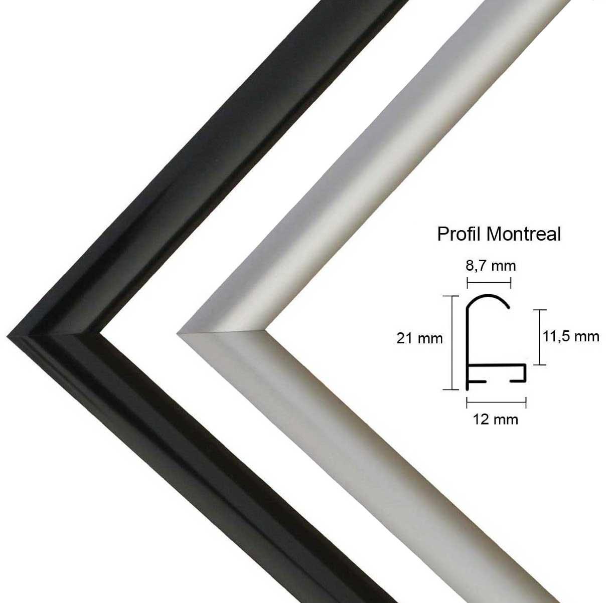 aluminium bilderrahmen 25 x 51 bis 29 x 60 cm montreal farbwahl ebay. Black Bedroom Furniture Sets. Home Design Ideas