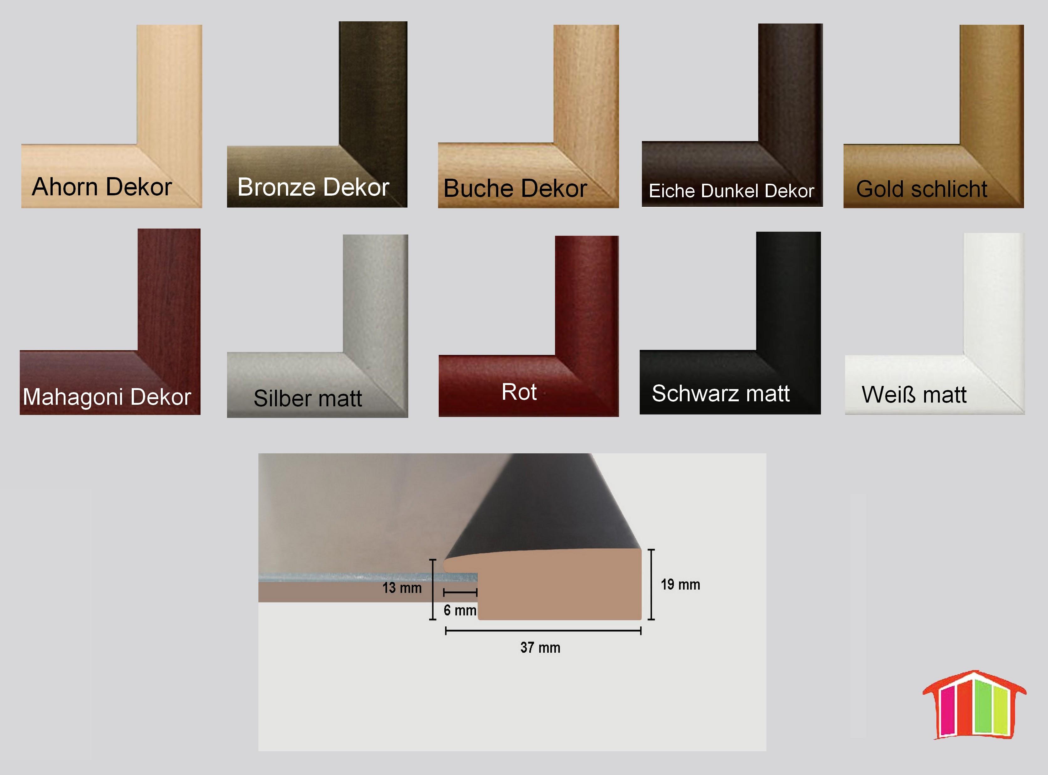 Holz werkstoff bilderrahmen pisa posterrahmen klein puzzle for Home deco 24
